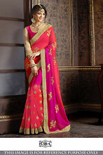 BOLLYWOOD TRADITIONAL DESIGNER INDIAN PAKISTANI PARTY WEAR ETHNIC SAREE SARI NEW