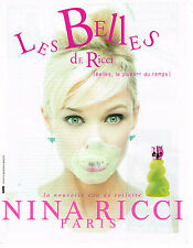 PUBLICITE ADVERTISING 124  1996  NINA RICCI  eau de toilette LES BELLES