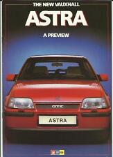 VAUXHALL ASTRA HATCHBACK, ESTATE & GTE PREVIEW SALES ROCHURE AUGUST 1984