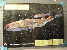 1997 German Movie Poster STAR TREK Enterprise-E Cutaway-Ltd Ed (STPO-Cut-E-FW)