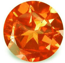 1.85 ctw 7 mm Round Brillant Cut  Created Padparacha