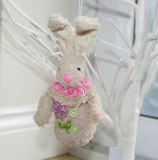 Easter Bunny Decoration with Bendy Ears Gift Rabbit Spring Time