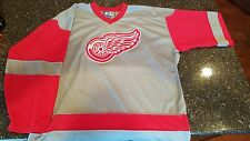Detroit Red Wings Alternate Gray Jersey - Rare Sewn Mens XL - Vintage