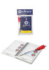 Fivics tir à l'arc target score carnet 60 pages spirale liés, y compris arrow pen