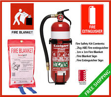 ESSENTIAL Fire Safety Kit ** Home, Boat, Caravan, Campervan, Workplace