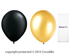 Coco&Bo 10 x Magical Wizarding Gold & Black Party Balloons Harry Potter Theme