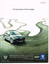 PUBLICITE ADVERTISING 045  2006  PEUGEOT 207  THP
