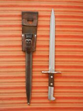 Perfect Swiss Army bayonet M1918 Schmidt Rubin K31 Scabbard Leather Elsener TOP