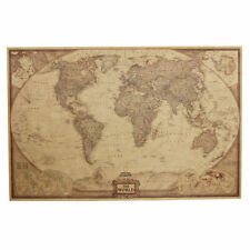 """Vintage Retro World Map Antique Poster Wall Chart Home Decoration 28"""" x 18"""""""