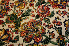 1 Yd English Garden Floral Collection Upholstery Drapery Home Decor Fabric