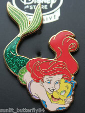DISNEY THE LITTLE MERMAID ARIEL FLOUNDER EUROPE PIN PRINCESS & THEIR PETS GRAIL