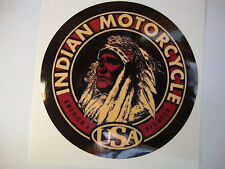 2 x  INDIAN MOTORCYCLE  WINDOW STICKERS MOTORBIKE HELMET STICKERS  GOLD BLACK