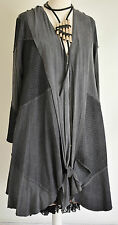 STUNNING DESIGNER DIAGONAL DRESS/COAT SIZE M/L grey