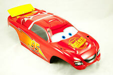 Custom Painted RC Body fits Traxxas Rustler VXL #3714 Lightning McQueen Rusteze