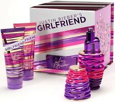 Justin Bieber Girlfriend Perfume Woman Gift Set EDP Spray Body Lotion Shower Gel