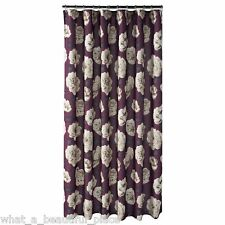 Saturday Knight Begonia Fabric Shower Curtain French Floral Purple Beige Black