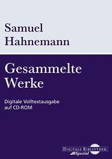 Samuel Hahnemann raccolte opere digitali full text Output CD-ROM