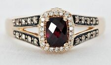 Le Vian Raspberry Rhodolite Garnet Ring w/ 1/3 CTW Chocolate Diamonds Rose Gold