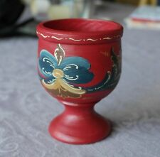 Norway Norwegian Rosemaling wooden cup Hand painted Folk Art TELEMARK style NEW