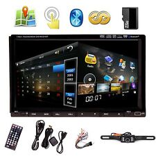"Sony Lens 7"" In Dash Double 2 Din Car DVD Player GPS Navigation 3D Bluetooth TV"