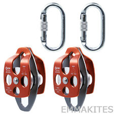 Mobile Pulleys Set for 4:1 or 5:1 Pulley System Process Capture Block and Tackle