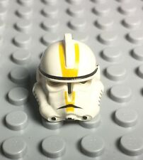 Lego New Star Wars Ep. 3 Clone Trooper Helmet With Yellow Markings ~old Version~