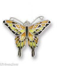 Zarah Zarlite Tiger Swallowtail BUTTERFLY CHARM Sterling SILVER PLATED & Enamel