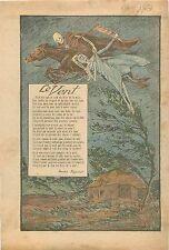 Poésie Le Vent Frère de la Mort Poilus WWI Louis Mercier poète Cantal 1931