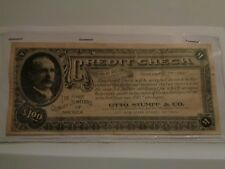 RARE Vint Credit Check Nov 1, 1912 Otto Stumpf & Co. Quality Jewelers Free S/H