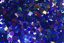Mini Navy Blue Iridescent Stained Glass Mosaic Tiles