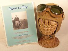 WWII U.S.A.A.F. Flight Goggles AN6530 & Leather Flight Helmet w/Providence