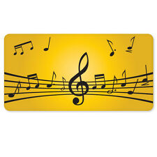 "LOVE OF MUSIC sheet music car bumper sticker 5"" x 3"""