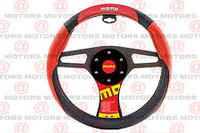 MOMO ITALY CORSE Steering Wheel Cover Red Black Accesories Racer Type 14.37""