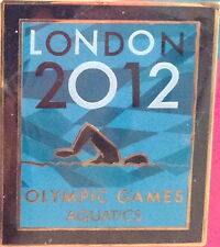 LONDON 2012 Olympic Games AQUATICS PIN Badge on Card Venue Pictogram Official