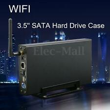 3.5'' USB 3.0 SATA WIFI Hard Drive HDD Case Wireless Router Repeater Enclosure