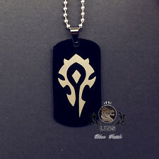 2017 Nueva Alianza de World of Warcraft Collar Colgante de acero tribal horda de titanio