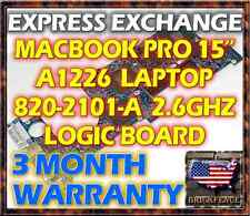 "EXCHANGE SERVICE: MACBOOK PRO 15"" A1226 820-2101-A 2.6GHZ LOGIC BOARD  661-4957"