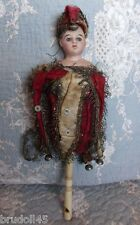 Francois Gaultier antique bisque French Marotte or Jester, all original, MARKED