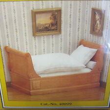 Dolls House Furniture  BIEDERMEIER Sleigh Bed  FURNITURE KIT  MD40099