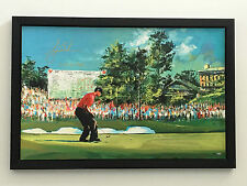 TIGER WOODS 08 US Open Golf Signed MALCOLM FARLEY 29x45 GICLEE CANVAS UDA PSA LE