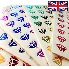 SHINY STICKERS DIAMOND STICKER FOIL SCRAP BOOKING 240 STICKERS 6 SHEETS NEW 2017