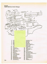 SAVAGE MODEL 330 OVER-UNDER SHOTGUN WITH EXPLODED VIEW AND PARTS LIST 1982 AD