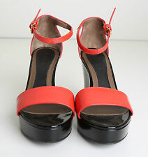 MARNI STUNNING RED AND BLACK WEDGES SIZE 38