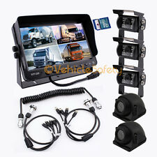 "4AV TRAILER CABLE 9"" MONITOR WITH DVR 5 x REAR VIEW CAMERAS BACKUP SYSTEM"