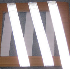 Silver gloss sew on REFLECTIVE TAPE PVC 3'x1""