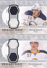 12-13 Artifacts Tyler Myers Dual Jersey Treasured Swatches Sabres 2012