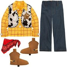 Sheriff~WOODY~COSTUME~Shirt+Pant+Vest+Shoe Covers~7/8~Toy Story~NWT~Disney Store