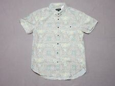 ZANEROBE MENS MULTI-COLOR PAISLEY SLIM FIT BUTTON UP S/S SHIRT SIZE LARGE NEW