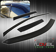 96 97 98-00 TOYOTA RAV4 4DR BLACK WINDOW VENT VISORS DEFLECTOR GUARD RAIN SHIELD