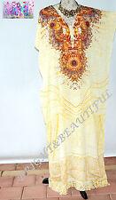 KAFTAN EMBELLISHED NEW long silk crepe stunning 16/22+ spring day half price